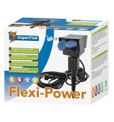 SuperFish flexi power stekkerdoos 8m snoer